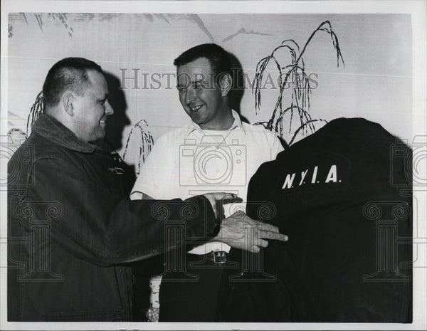 1967 Press Photo Pilots Dan Pranka William Donahue Rescue Jackets New York - Historic Images