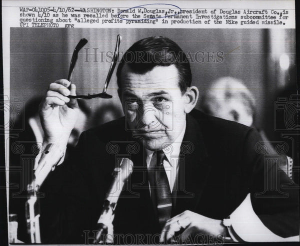 1962 Press Photo Donald Douglas of the Douglas Aircraft Company in Court - Historic Images