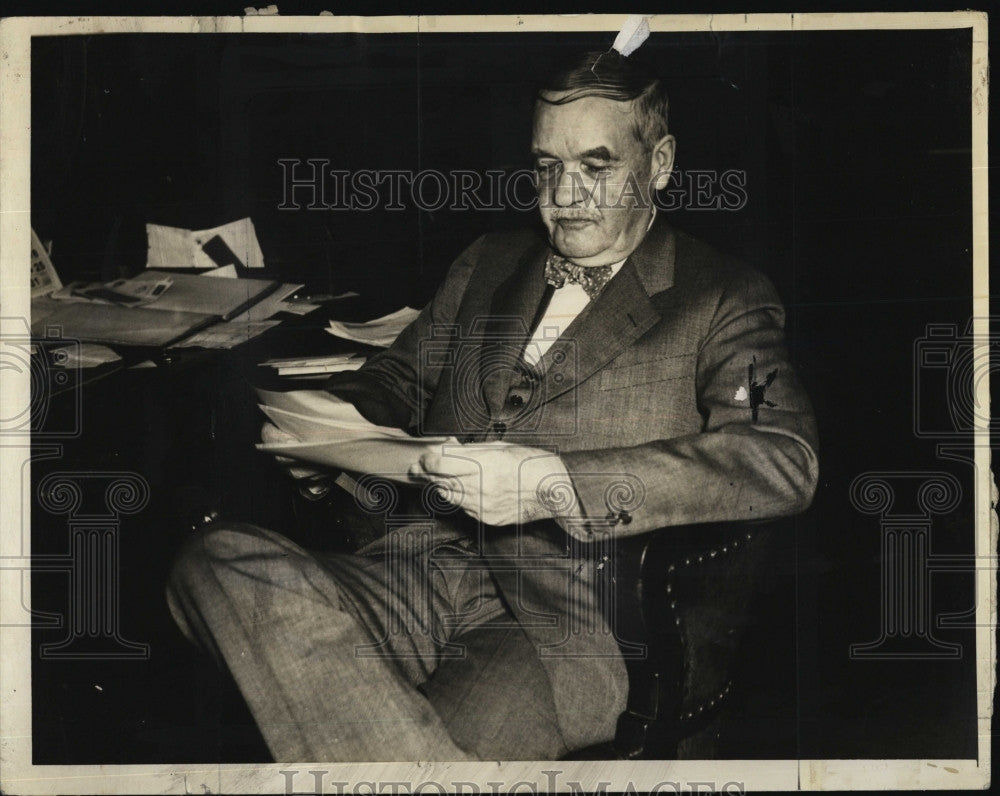 1934 Press Photo Frank Dorr, Boston Businessman - Historic Images