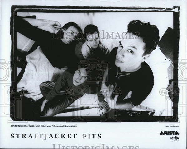 Press Photo Straitjacket Fits: D. Wood, J. Collie, M. Petersen, S. Carter - Historic Images