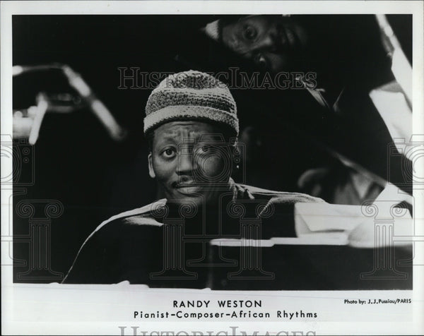 "Press Photo Pianist Composer African Rythms Randy Weston In ""Say Brother"" - Historic Images"