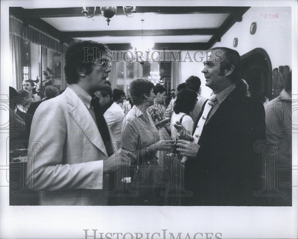 1980 Press Photo David Rosenbaum and Crosby Day at a party - Historic Images