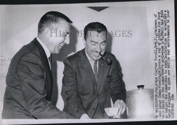 1964 Press Photo Adam Clayton Powell and Stewart Udall - Historic Images