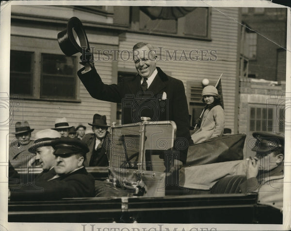 1934 Press Photo Governor Joseph B Ely of Massachusettes - Historic Images
