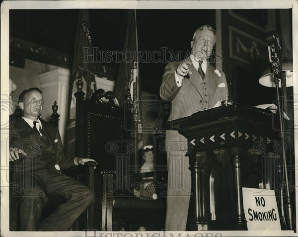 1936 Press Photo Governor of MA Joseph B Ely Constitution Day - Historic Images