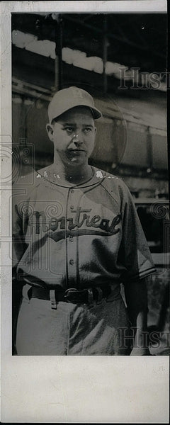 Press Photo John Gabhard of Montreal Royals - Historic Images