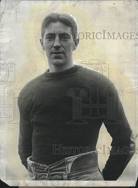 1928 Press Photo Eddie Casey, star of Harvard football - Historic Images