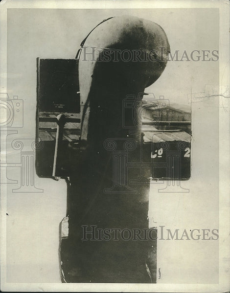 1917 Press Photo 'Smoke Gun' on Donaldson Ocean Liner Lakonia Ship - Historic Images