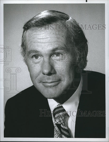 Press Photo TV Host, Comedian Johnny Carson - Historic Images