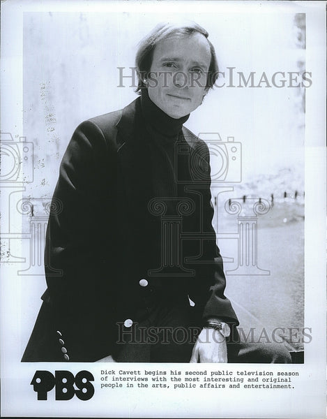 Press Photo TV talk show host Dick Cavett - Historic Images