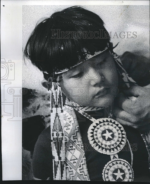 1974 Press Photo Young Native American Boy in Chicago - Historic Images