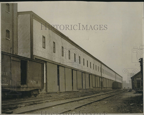 1919 Press Photo Terminal warehouse where agents seized hoarded sugar - Historic Images