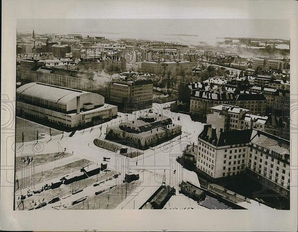1939 Press Photo City of Helsingfors in Finland - Historic Images
