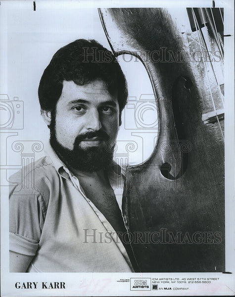 Press Photo String Bass Soloist Gary Karr - Historic Images