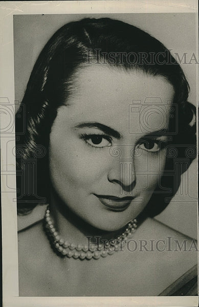 1950 Press Photo Actress Olivia De Havilland - Historic Images