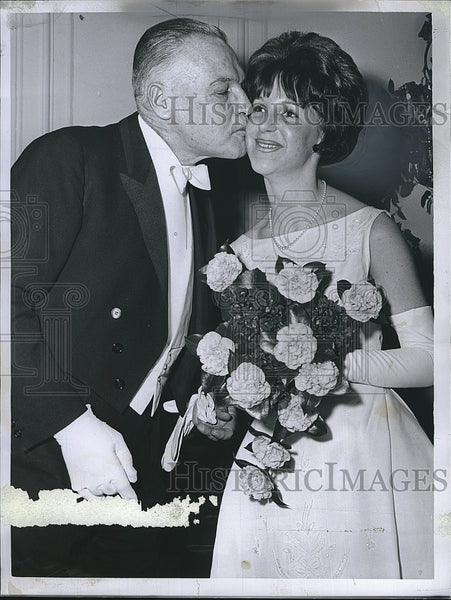 1965 Press Photo Lilla Bottomley & her dad Dr George Bottomley - Historic Images