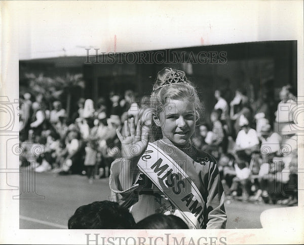 Press Photo Elizabeth Ann Deery, Little Miss America - Historic Images