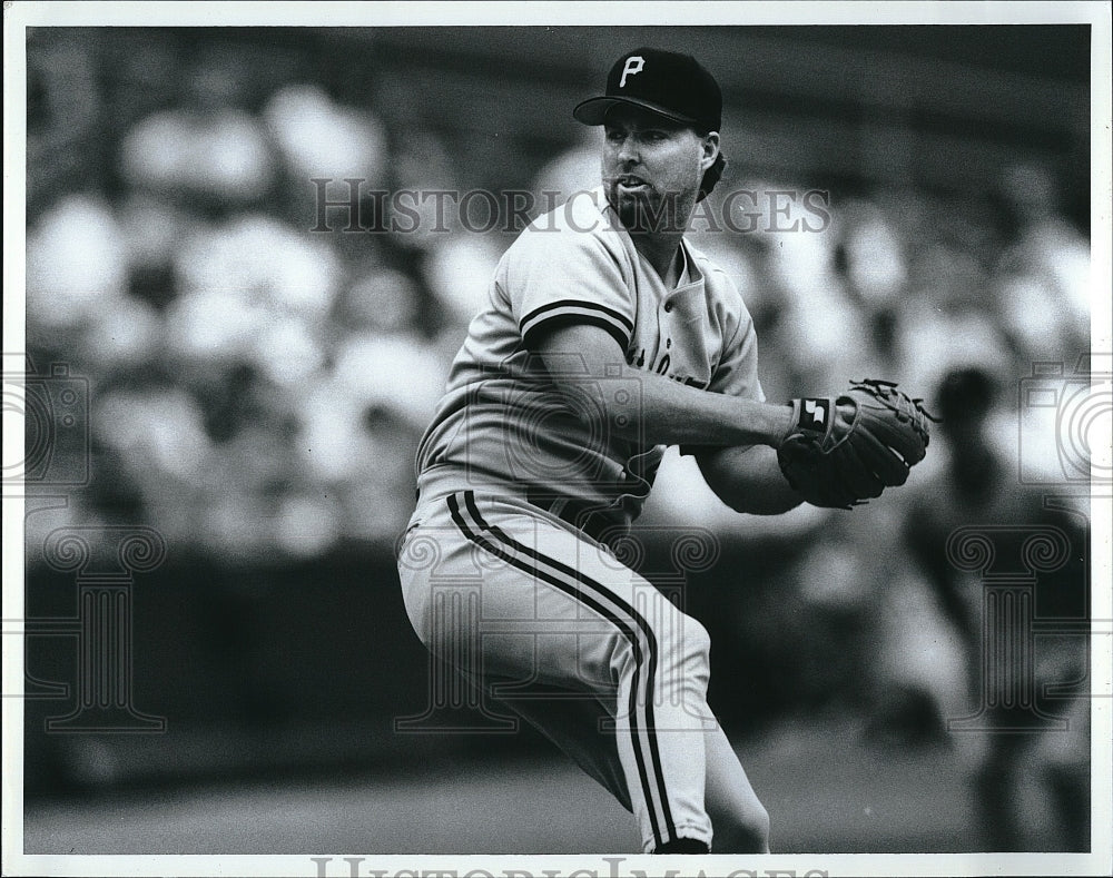 Press Photo Zane Smith, Pittsburgh Pirates - Historic Images