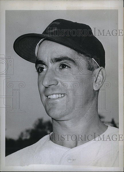 1945 Press Photo Leonardo Merullo, infielder for the Chicago Cubs - Historic Images