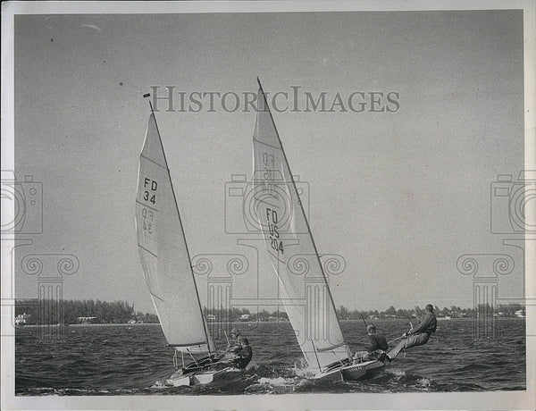 1957 Press Photo Francis Seavy won state championship in Flying Dutchman Class - Historic Images