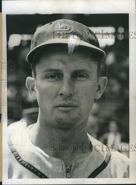 1946 Press Photo Jeff Cross, St. Louis Cardinals infielder - Historic Images