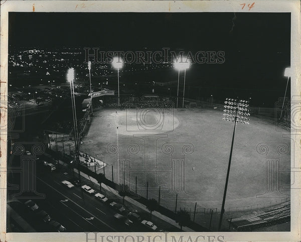 1971 Press Photo St. Pete Cardinals vs Winter Haven Red Sox at Al Lang Field - Historic Images
