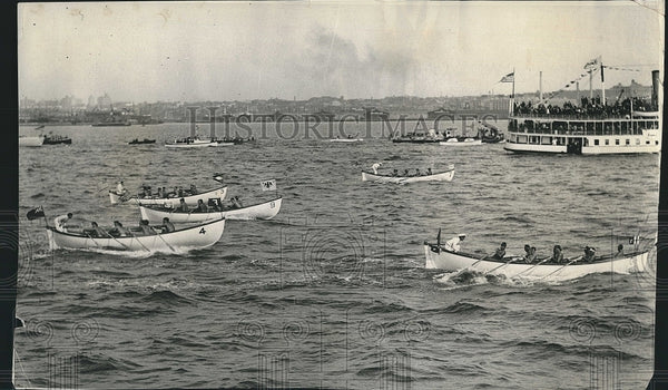 1938 Press Photo Italian lifeboat crew wins Int'l Lifeboat Race in New York - Historic Images
