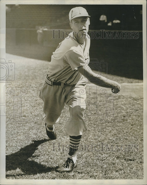 1939 Press Photo Curt Davis of the St. Louis Cardinals - Historic Images