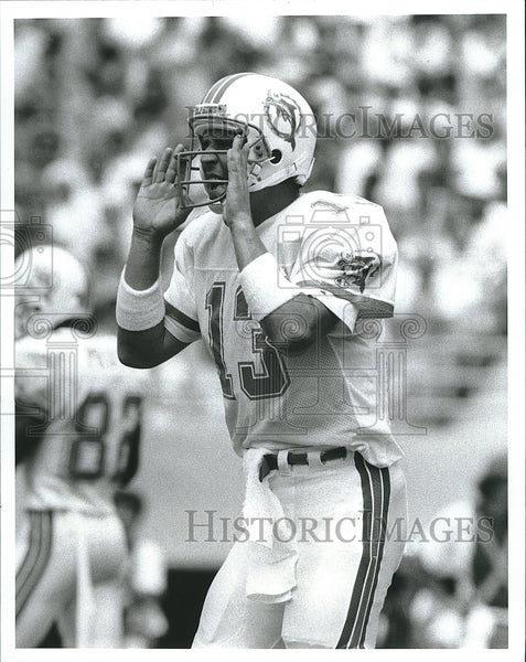 1988 Press Photo Dan Marino, Quarterback, Miami Dolphins - Historic Images