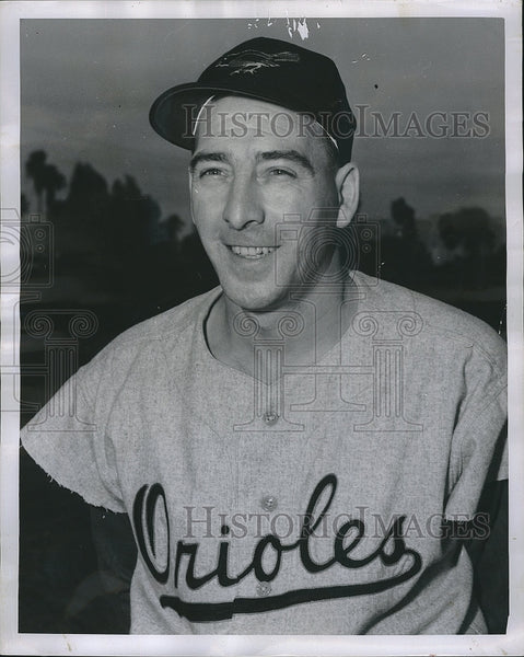 1955 Press Photo Billy Cox of the Baltimore Orioles - Historic Images