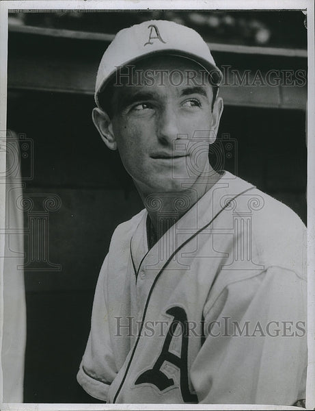 1925 Press Photo Pete Suder Philadelphia Athletics - Historic Images