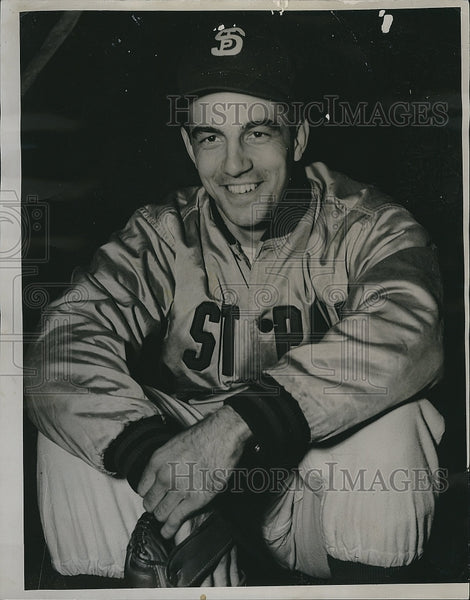 1948 Press Photo Lee Griffeth Ptcher for st. Paul - Historic Images