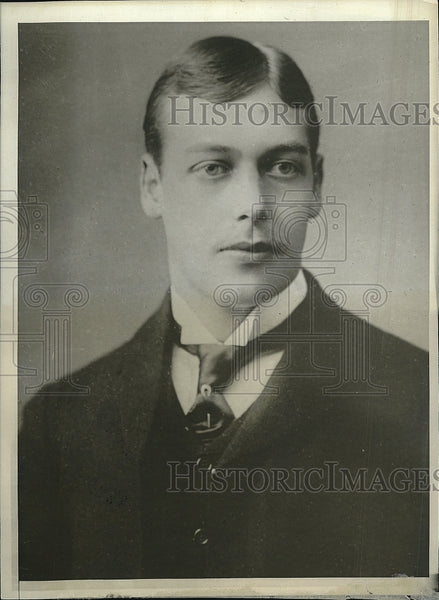 1928 Press Photo King George of V of Great Britain, as a young man at age of 22. - Historic Images
