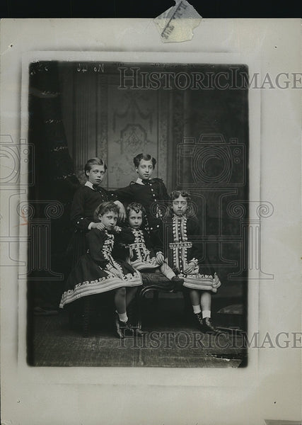 1928 Press Photo King George V, Prince Albert Victor, Maud of Wales, Victoria - Historic Images
