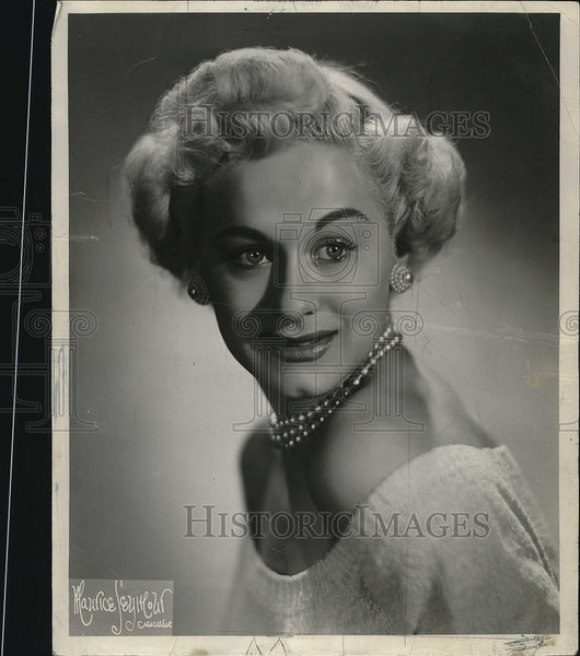 "1954 Press Photo Gretchen Wyler from the musical ""Guys and Dolls"" - Historic Images"