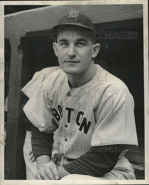 1948 Press Photo Matthew D. Batts, Boston Red Sox Catcher - Historic Images