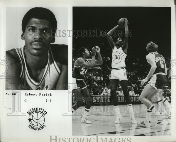 Press Photo Robert Parish of Golden State Warriors - Historic Images