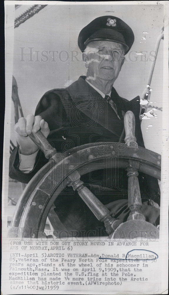 1970 Press Photo Adm. Donald Macmillan of Peary North Pole Expedition, Age 85 - Historic Images
