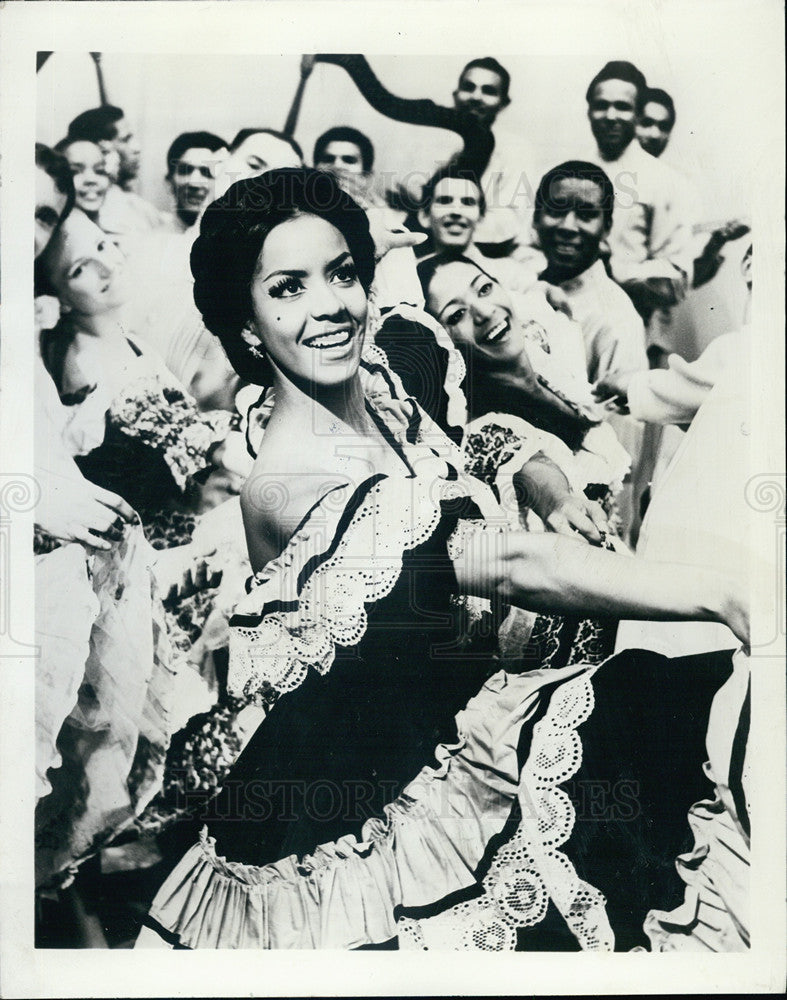 1968 Press Photo Yolanda Moreno, Dancer in Danzas Venezuela - Historic Images