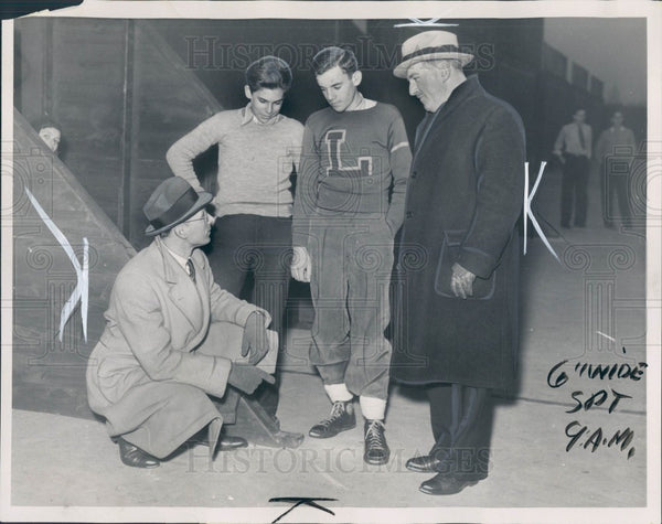 1936 Detroit News Handball Tournament Press Photo - Historic Images