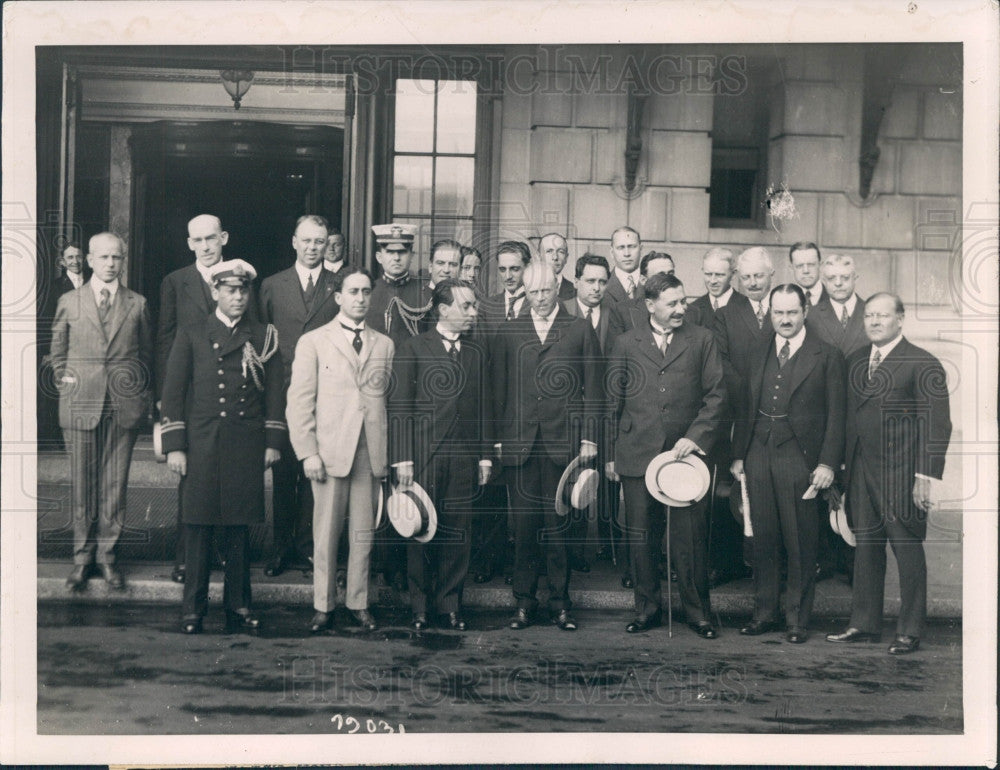 1918 Uruguayan Mission in Boston Press Photo - Historic Images