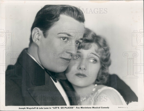 1930 Actors Joseph Wagstaff Lola Lane Press Photo - Historic Images