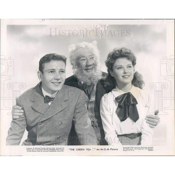 "1946 Promo Photo Actors Charles Coburn, Tom Drake, Beverly Tyler in ""The Green Years"""
