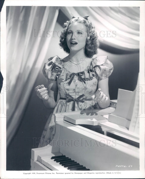 1940 Actress/Singer Linda Ware Press Photo - Historic Images