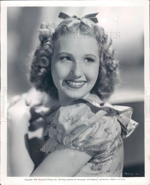 1939 Actress/Singer Linda Ware Press Photo - Historic Images