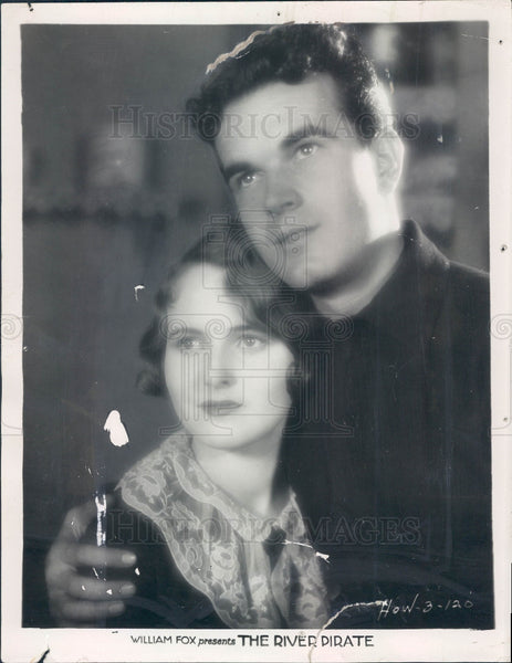 1928 Actors Lois Moran & Nick Stuart Press Photo - Historic Images