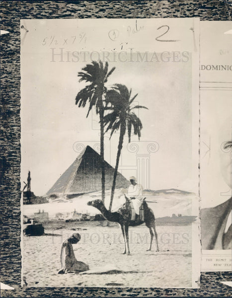1925 Egyptian Pyramid Press Photo - Historic Images