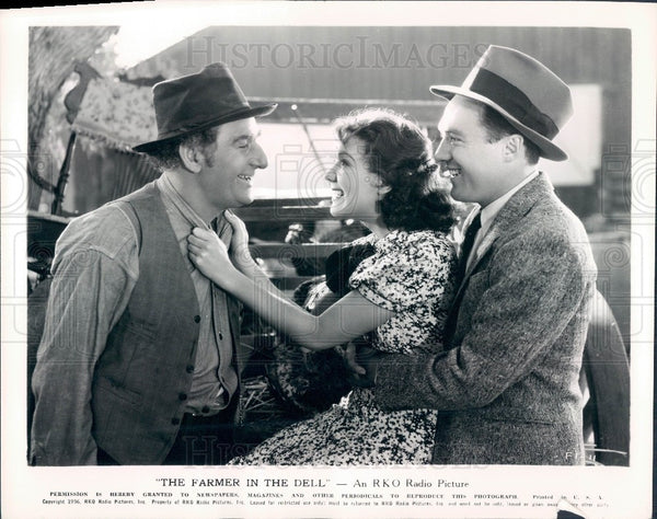 1936 Actor Fred Stone Jean Parker Frank Albertson Photo - Historic Images
