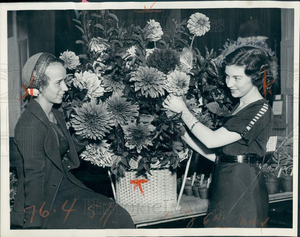 1932 Detroit Flower Show Press Photo - Historic Images