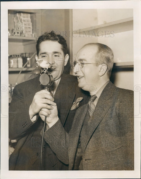 1936 Detroit News Radio Team Frank & Ernest Press Photo - Historic Images